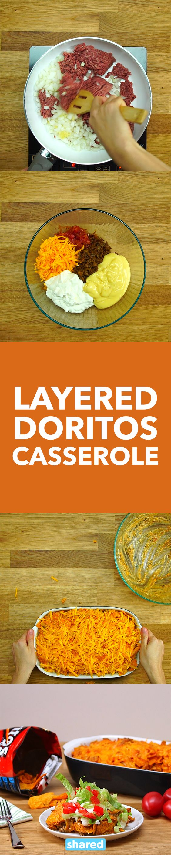 Layered Doritos Casserole