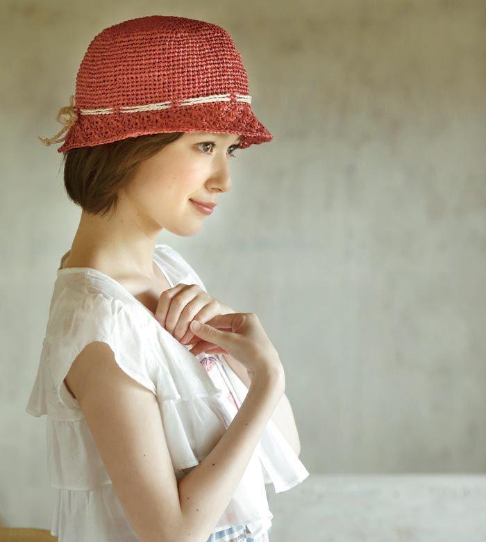 使用糸:【Z721】Raffia(ラフィア)。作品♪213su-06帽子