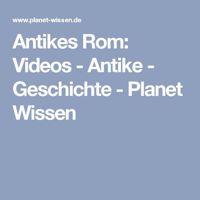 Antikes Rom: Videos - Antike - Geschichte - Planet Wissen