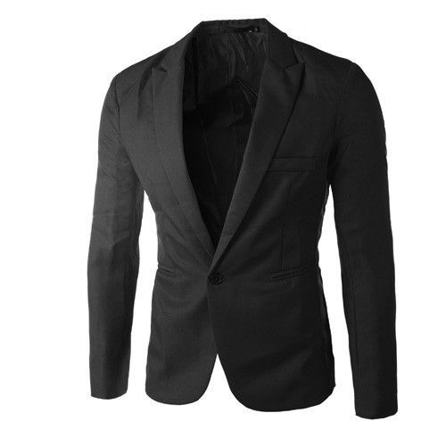 Casual Mens Suit Hooded One Button Men Red Blazer Outdoors Slim Fit Jacket