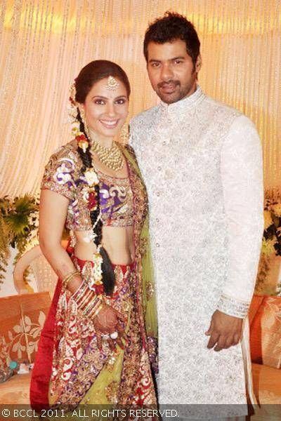 Shabbir Ahluwalia and Kanchi Kaul during their wedding ...