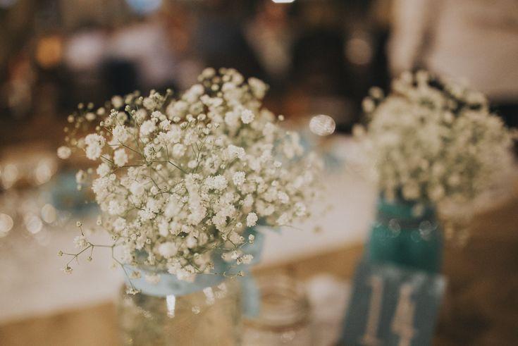 lafete, Sifnos, Cyclades, babys breath flowers, wedding deco mint jar