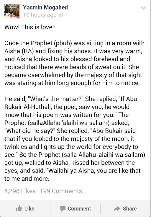 Always thought the cutest love stories came from the live of Prophet Muhammad s.a.w. MasyaAllah :')