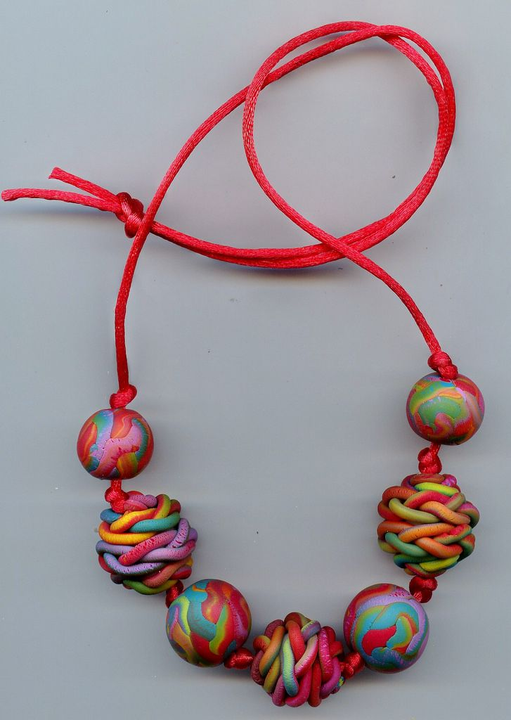 Polymer Clay Beads, again my favorite colors