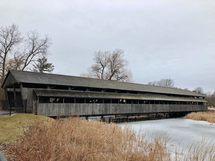 Shelburne Museum Covered Bridge. Shelburne, Vermont. Moved from Cambridge, Vermont, around 1950. Paul Chandler February 2018.
