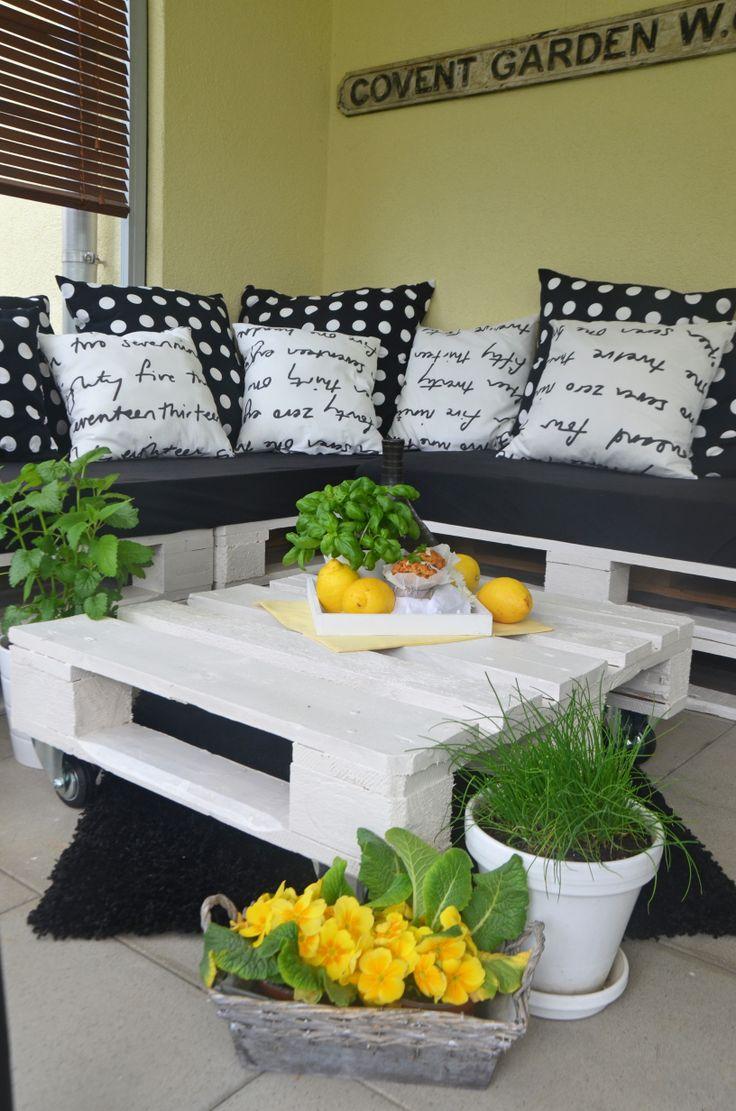 Upcycling DIY Lounge Aus Paletten Outdoor Wohnzimmer