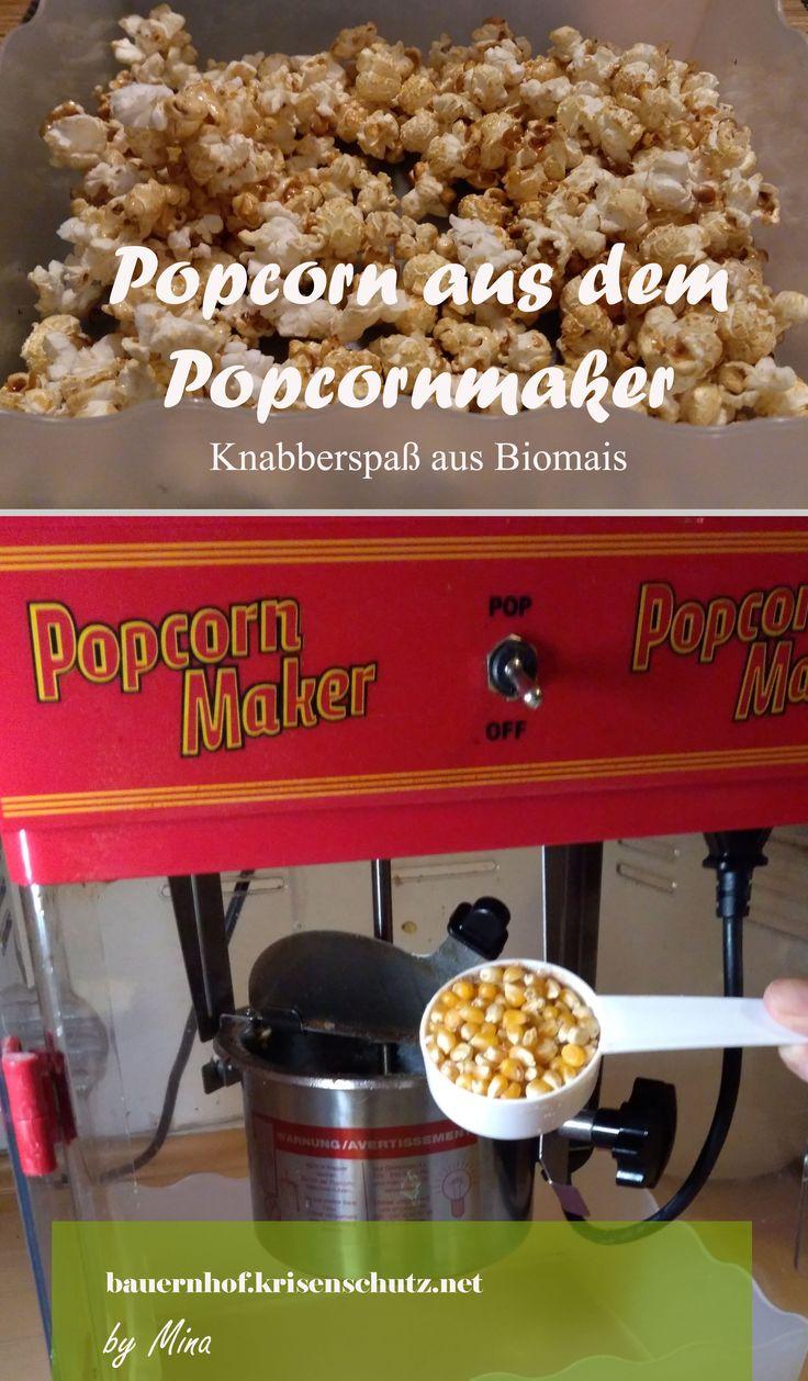 #Popcorn aus dem #Popcornmaker - leckerer #karamel #Snack aus #Mais #Bio für deinen #Heimkino-Abend