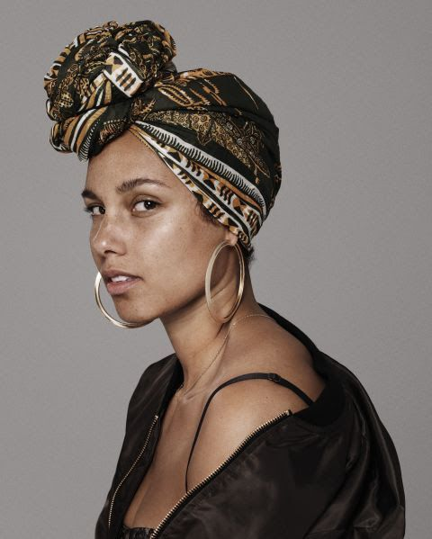 Alicia Keys without makeup