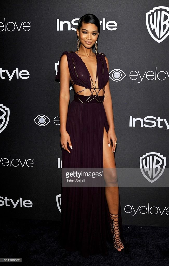 Model Chanel Iman attends The 2017 InStyle and Warner Bros. 73rd Annual Golden Globe Awards Post-Party at The Beverly Hilton Hotel on January 8, 2017 in Beverly Hills, California.