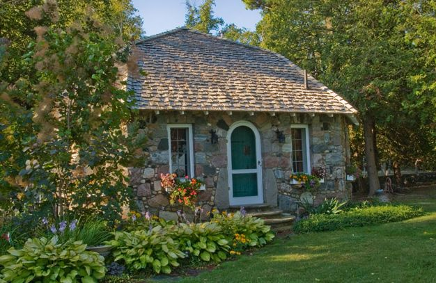 Marvelous Cottages, Earl Young, Charlevoix, Michigan, Mushroom Houses, Half House,  Photograph