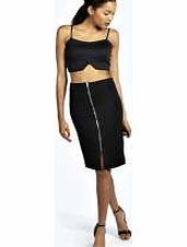 boohoo Esmie Ribbed Zip Detail Pencil Skirt - black Steal the spotlight this season in micro minis, of-the-moment midis and floor-sweeping maxi skirts . Whether you stick to separates or go matchy-matchy in a co-ord crop top , a skirt is the starting p http://www.comparestoreprices.co.uk/skirts/boohoo-esmie-ribbed-zip-detail-pencil-skirt--black.asp