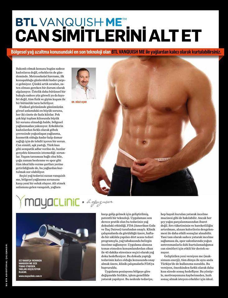 Men's Health Dergisi Dr Oğuz Uçar BTL Vanquish ME #TemassizEstetik #Temassizincelme #BTLVanquishME #MensHealth