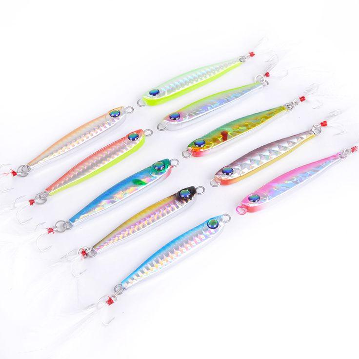 送料無料金属ルアー釣り餌35グラム鉛魚羽フックメタルジグ釣りルアーpailletteのワブラー人工ハード餌