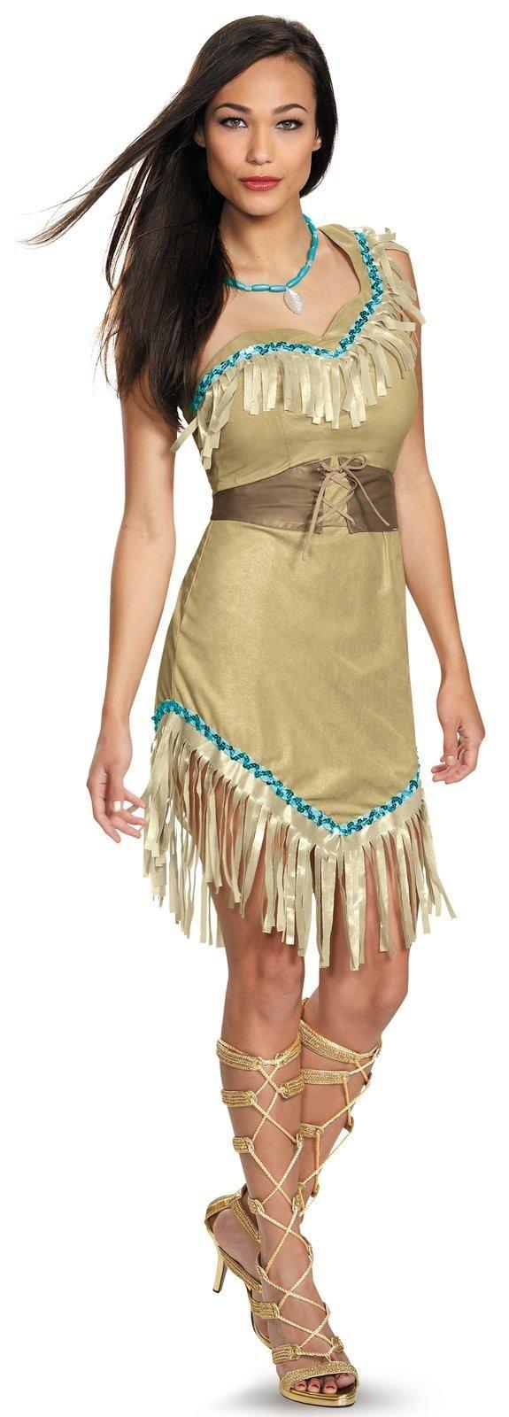 disney princess deluxe womens pocahontas costume - Disney Princess Halloween Costumes Diy