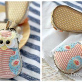 Macaron gufetti in stoffa – Tutorial e Cartamodello