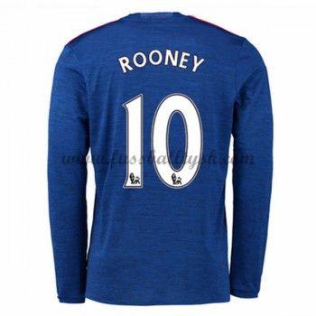 Premier League Fussball Trikots Manchester United 2016-17 Rooney 10 Auswärtstrikot Langarm