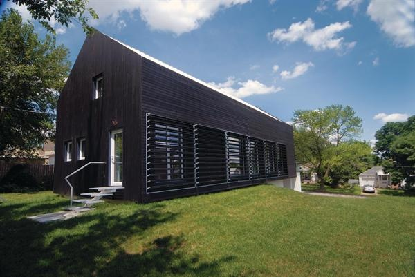 Prescott Passive House's super-insulated, extremely airtight building envelope helped it achieve Passive House certification.