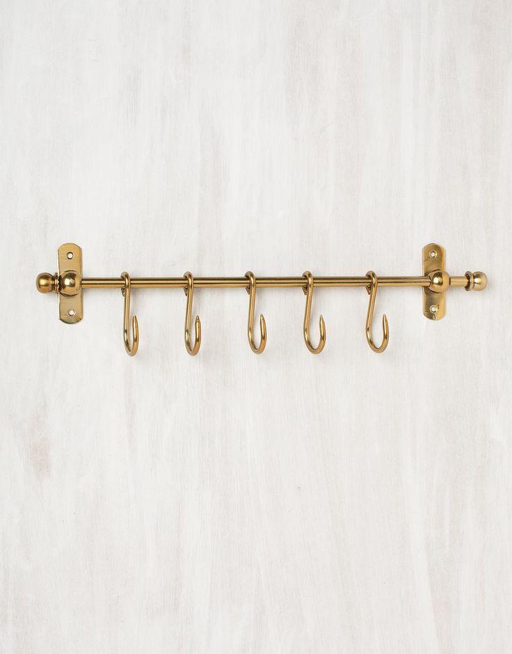 ROD HOOK-5 hängare mässing | Hangers | Hängare | Hall & Förvaring | Home | INDISKA Shop Online