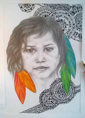 Kreslenie :: Zirnitra - autorský šperk, portrét, realistická kresba dieťaťa, kresba ceruzkou, pastelom a perokresba.