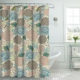 Found it at Wayfair - Oxford Fabric Weave Textured Floral Shower Curtain Set