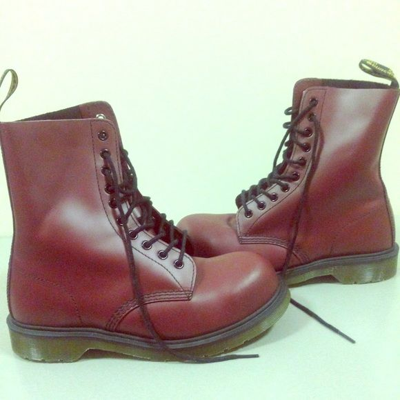 Cherry Unisex Dr. Martens 1919 Only worn once and in GREAT condition! It is a UK size 7 ( US Men's 8, US Women's 9) Dr. Martens Shoes Lace Up Boots