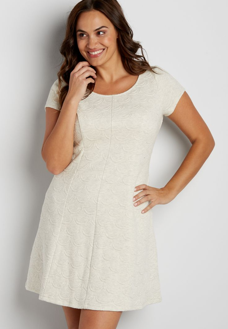 plus size scallop quilted dress (original price, $46.00 ...