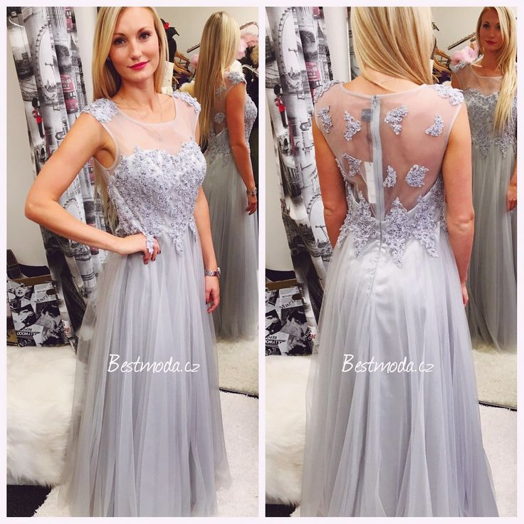 Silver evening dress Christine