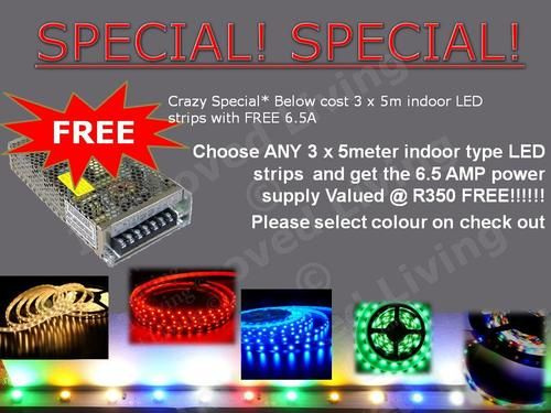 Other Electronics - Crazy Special* Below cost 15m LED strips Kit with FREE 78Watt Power supply- Price/m for sale in Port Elizabeth (ID:160985690)