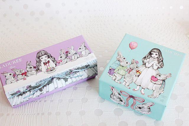 Pâques 2016 - Ladurée - Boîtes réalisées en association avec Yuko Higuchi célèbre dessinatrice japonaise.