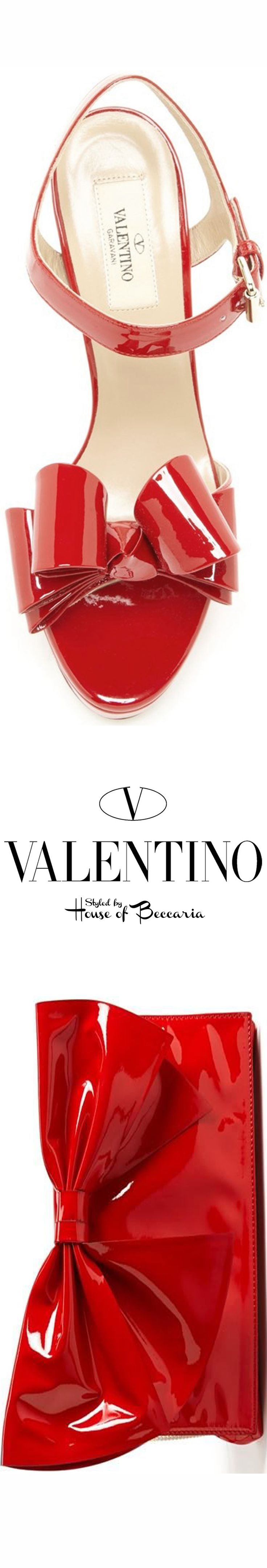 ~Iconic Valentino Bow Red Patent Leather  Accessories | House of Beccaria#