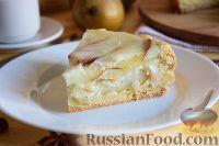 Фото к рецепту: Цветаевский пирог с грушами (в мультиварке)
