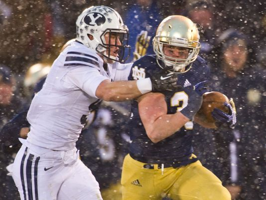 Cam McDaniel rushes for career high for Notre Dame vs. BYU!!
