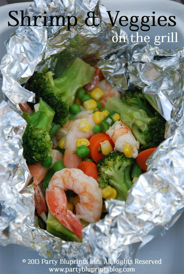 Shrimp and Veggies On The Grill Easy #Recipe