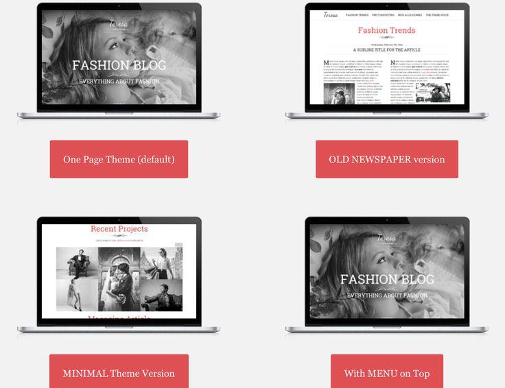 Wordpress themes. http://teresa.premiumcoding.com/Preview/demo.php