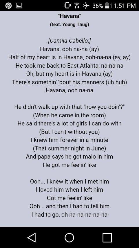 Sam And Cat Theme Song Lyrics : theme, lyrics, Havana, Camila, Cabello, Young, Lyrics, Ukulele, Chords, Songs,