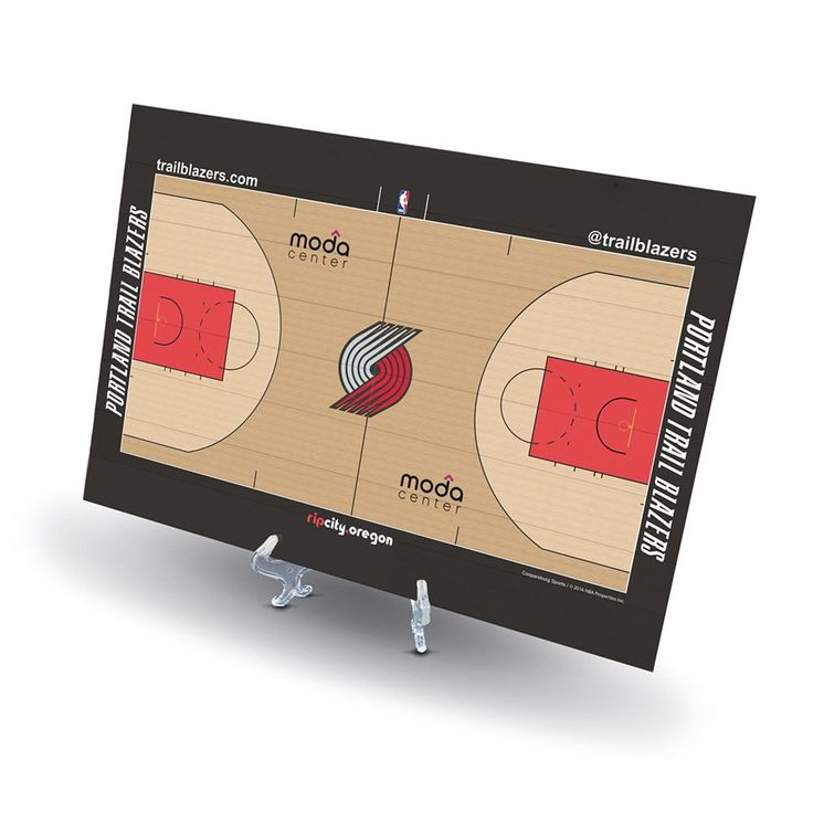 Portland Trail Blazers Replica Basketball Court Display, Size: Novelty, Multicolor