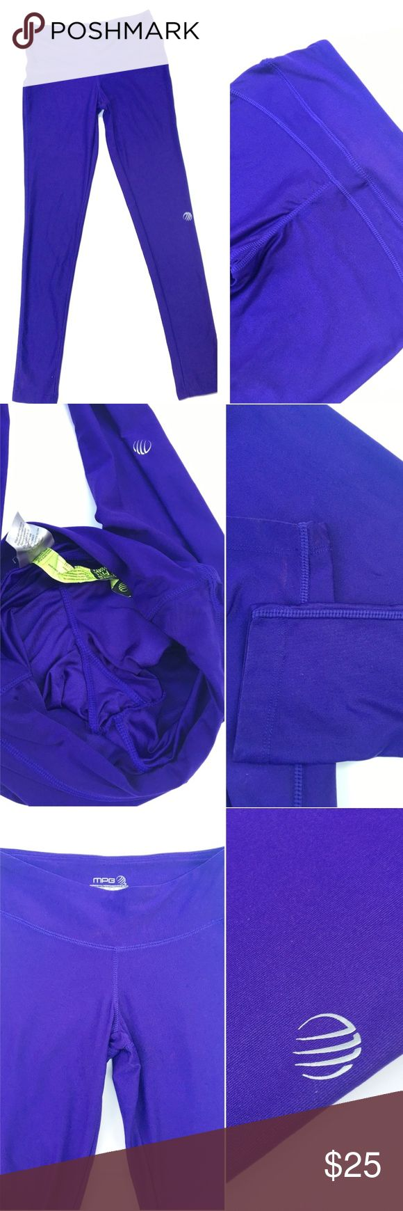 """MPG Athletic Purple Workout Legging Pants Yoga XS MPG Women's Leggings Purple  Stretch Leggings, Elastic Waist, Flattering Waistband.  Perfect for yoga or running around town! Size: XS X Small  Waist: 12.25""""  Inseam: 27.25"""" Rise: 8""""  Length: 34.5""""  Condition: NWOT. Comes from a pet and smoke free environment!  Please review pictures and contact me if you have any questions. Color: Purple Pattern: Solid Material: 90% Nylon, 10% Spandex Country: China Care: Machine WT: 0.09 CSKU: WA020…"""