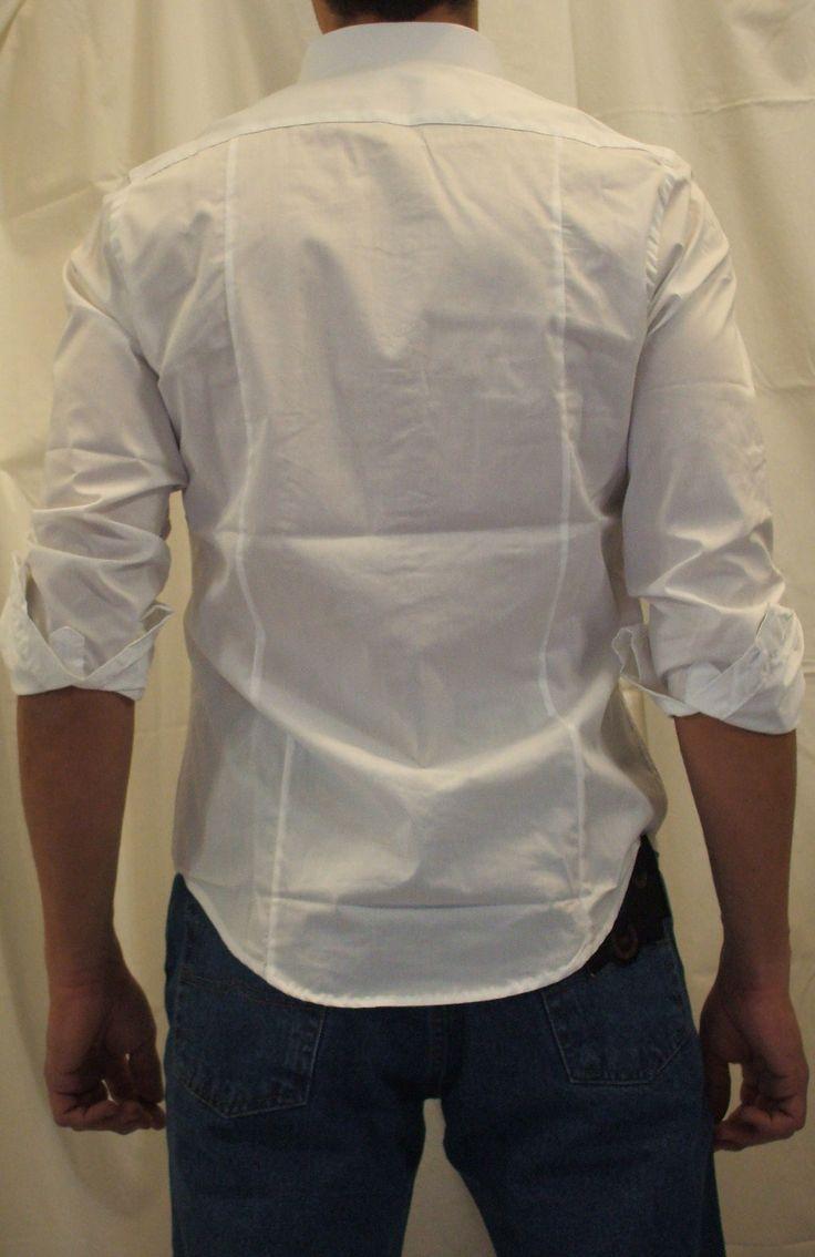 Camicia Bianca Uomo aderente Slim fit sciancrata stretch [camicia bianca slim jimmy] 18.60EUR: Italiantrendy.it, veste la professionalità