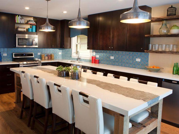 Natural Walnut Kitchen Island In Summit New Jersey: 17 Best Ideas About Large Kitchen Design On Pinterest