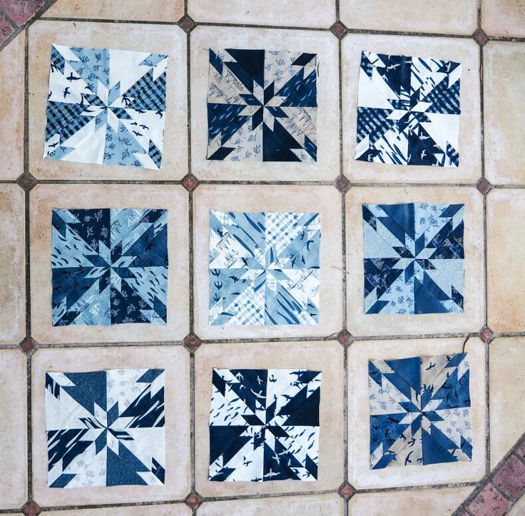 Lovely Hunters Star , using Hearty Good Wishes these aren't crooked just laying on tiles😊