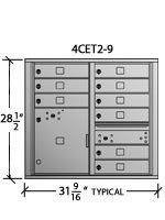 Auth-Florence: Front Loading 4C Horizontal Cluster Mailbox Suite E, by Auth Florence Mailboxes. $1336.60. Auth-Florence: Front Loading 4C Horizontal Cluster Mailbox Suite E, 9-Tenant