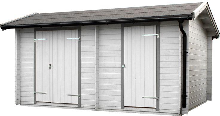 Förråd Skyarp 15 Ett knuttimrat förråd med två separata oisolerade dörrar samt mellanvägg. Ger dig möjlighet till olika typer av förvaring i ett och samma förråd. Önskas en isolerad dörr rekommenderar vi att du köper till en 13x19 dörr och/eller en 8x19 dörr med nyckellås.