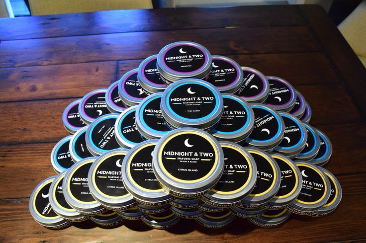 All 3 shaving soaps - perfect for a wet shavers dream. #wetshaving #productdesign www.midnightandtwo.com #midnightandtwo