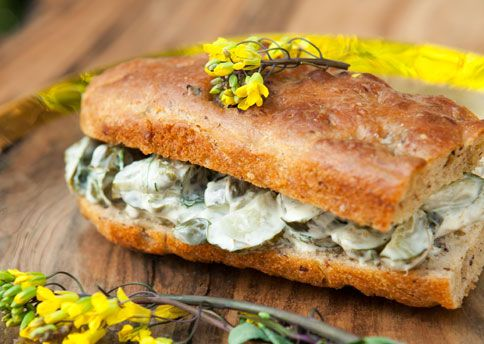 Roasted cucumber, Greek yogurt, capers, parsley, focaccia and your heart.Chocolates Trifles, Roasted Cucumber, Cucumber Sammy, Food, Bon Appetit, Favorite Recipe, Sandwiches Recipe, Fingers Sandwiches, Cucumber Sandwiches