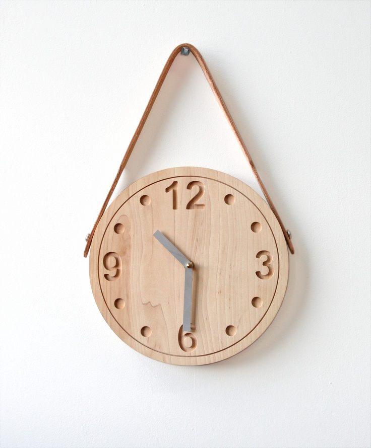 love this clock by stanley ruiz. especially the leather strap. (you'll be a mirror soon)