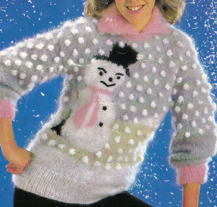 17 Best images about Christmas Jumper Knitting Patterns on Pinterest Snowfl...