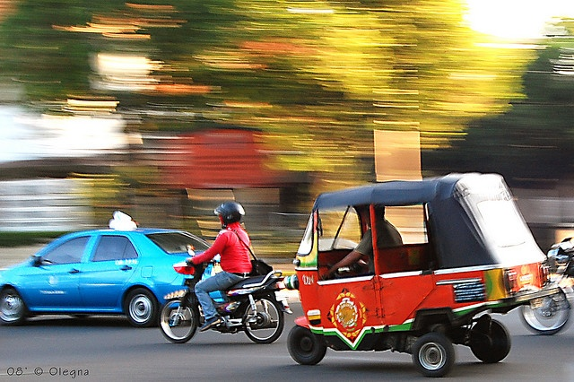 3 wheeled Jakarta local transport called Bajaj a.k.a. King of The Road
