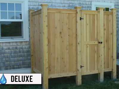 cedar outdoor standard shower kit