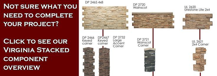 Faux Virginia Stacked Stone Panels, Urestone Panels | Faux Stone Sheets: Virginia Stacked Stone