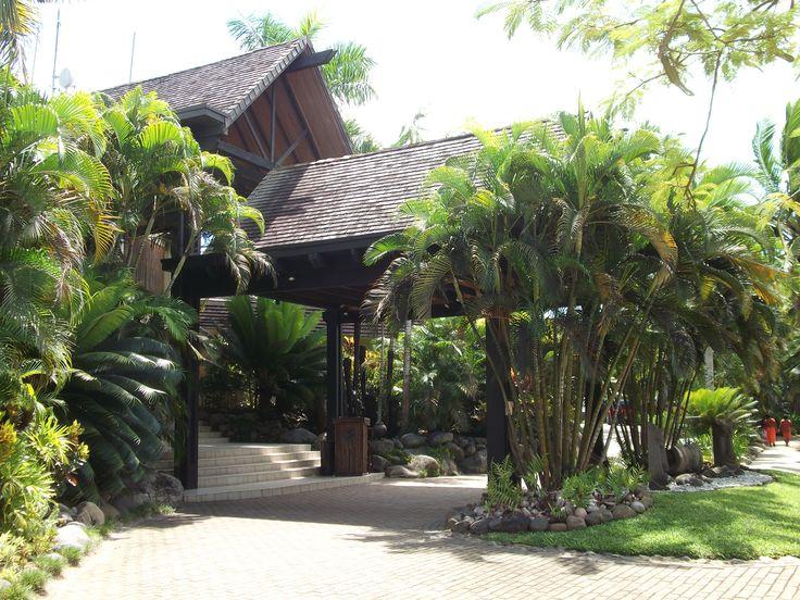 #Travel:  Resort Entrance, #Sonaisali Island Resort, #Fiji, South Pacific.  Photo Credit: Dawne Rudman